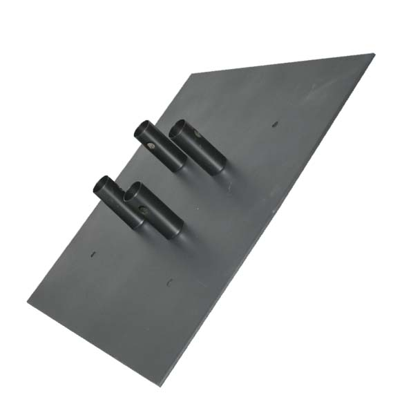 "Monster Truss FOUNDATION 12"" Square Steel Base Plate inclined right"